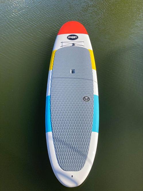 "11'6"" Throwback Fiberglass Stand up Paddleboard +adjustable paddle + leash"