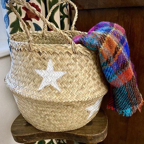 Seagrass White Star Basket