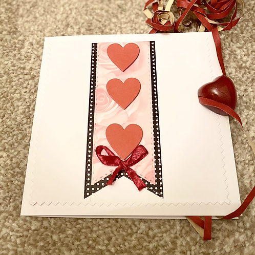 Triple Heart Valentine Card
