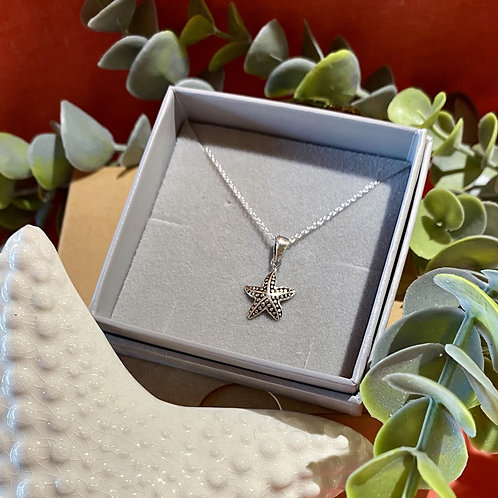 Silver Star Fish Necklace