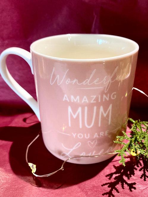 Pink Amazing Mum Mug