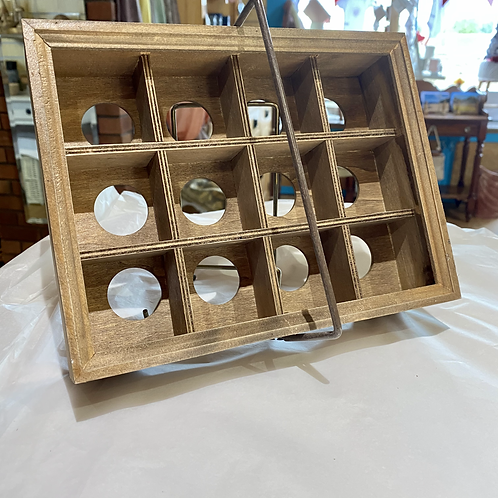 Wooden Dozen Egg Caddy