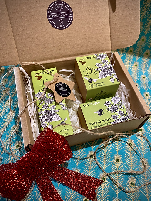 Bee Fayre Soap, Hand Cream & Candle Gift Box