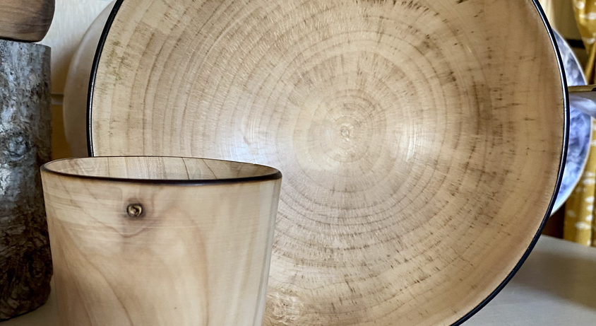 Dave beaker and bowl sycamore wood.HEIC