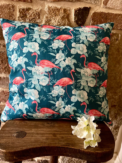 Pink Flamingo cushion with insert pad.