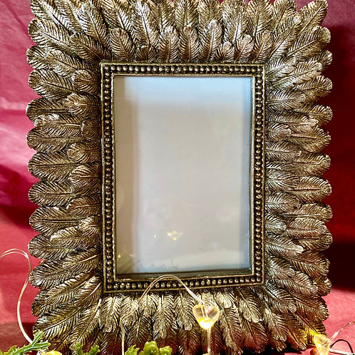 Silver Resin Feather Frame