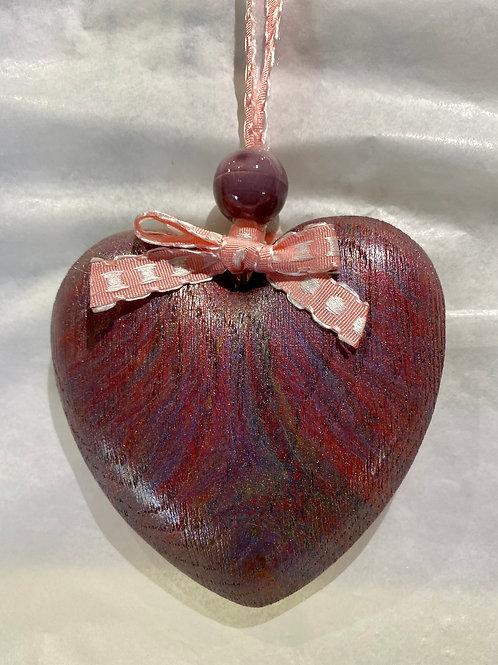 Pink Rustic Wooden Heart
