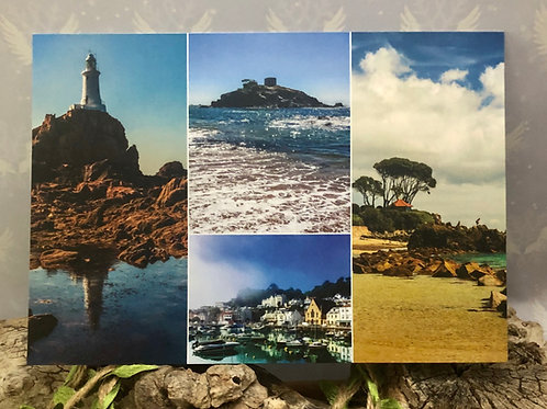 Postcard Montage scenes of Jersey