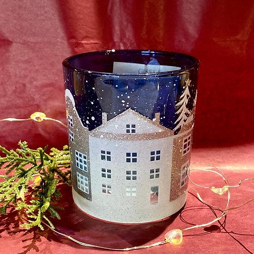 Christmas Street Scene Tea Lite Holder