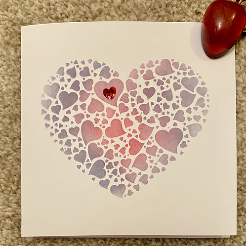 My Valentine Heart Card