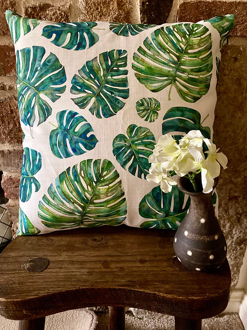 Cheese Plant Cushion with pillow  insert