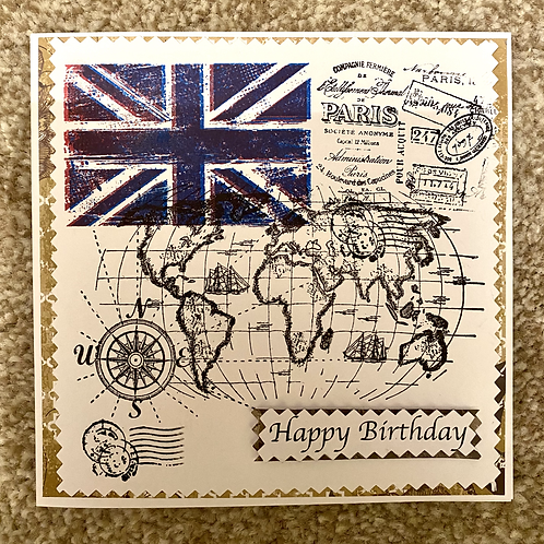 UK Flag Birthday Card