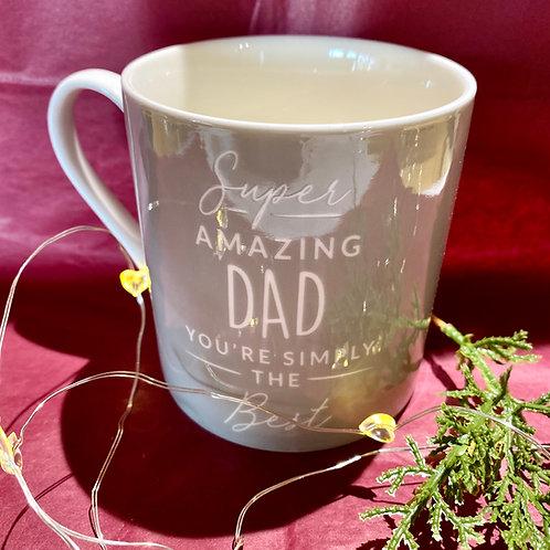 Grey Super Dad Mug