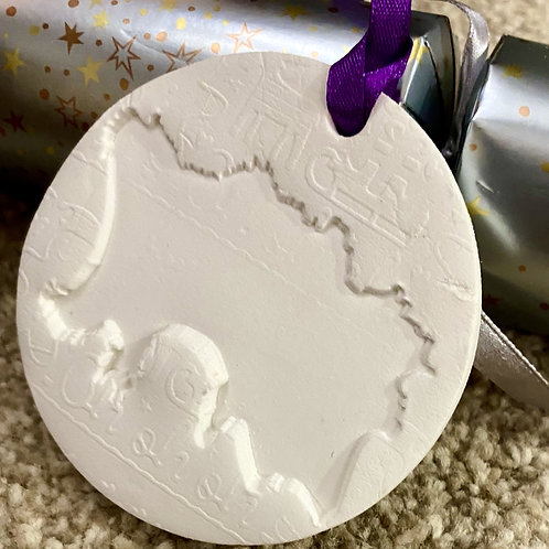 Jersey Clay Christmas Decoration