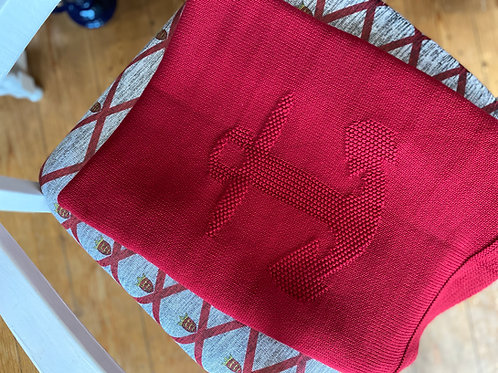 Red Knitted Throw