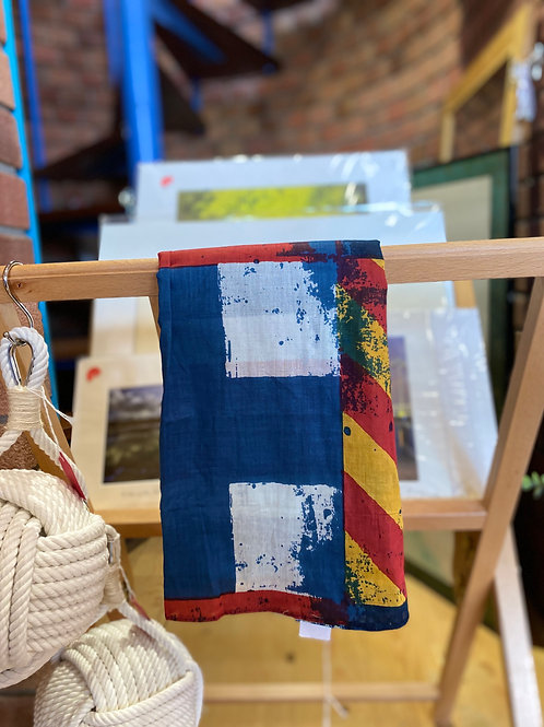 Cotton Nautical Flags Scarf