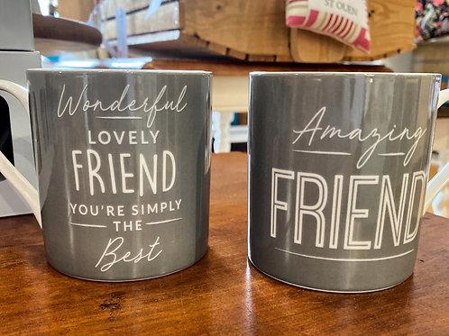 Grey Wonderful Friend Mug