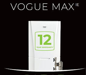 Vogue Max 12 year warranty with Newgasboilers.ie