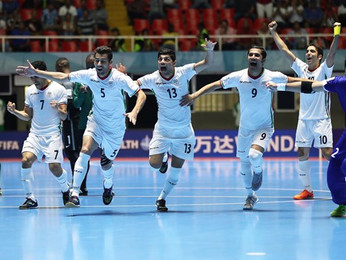 Iran take out third place in the Futsal World Cup indoor soccer championships held in Columbia