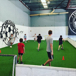 Day 2 of kids summer camp _the.soccer.club with coach Ben Thomas ex Swansea City Premier league play