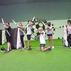 Ever wanted to shoot your friends in the face with a bow and arrow___The winning team of our 3-A-Sid