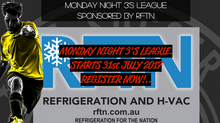 Monday night 3's league starts 31st July 2017