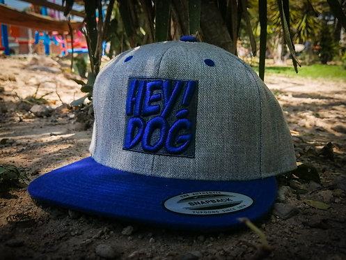 Snapback Hey! Dog Gris Azul