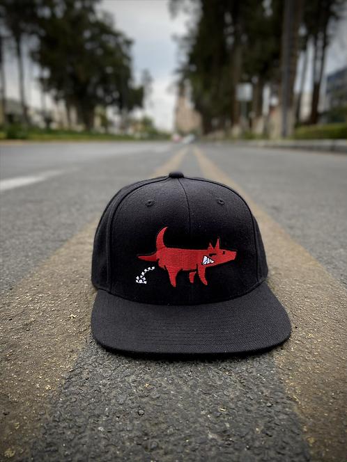 Snapback Hey! Dog Negro Logo