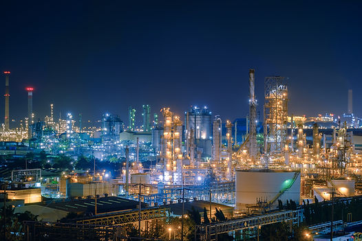 Oil and Gas refinery industry plant with