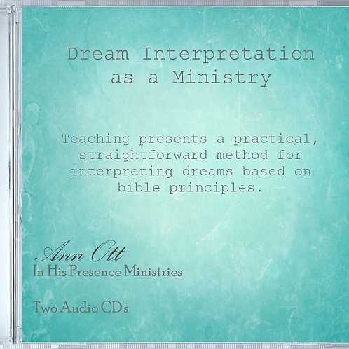 Dream Interpretation as a Ministry-Two Audio CD's