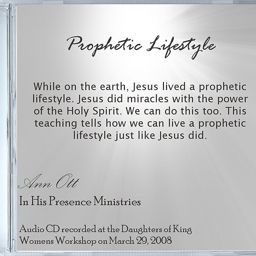 Prophetic Lifestyle Audio (CD)