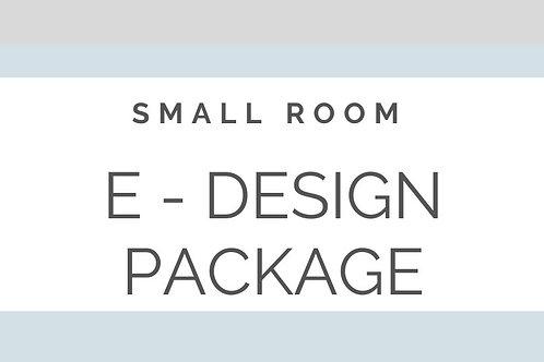 E - DESIGN ONE SMALL ROOM