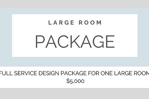 FULL SERVICE DESIGN ONE LARGE ROOM
