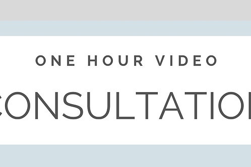 ONE HOUR VIDEO CONSULTATION