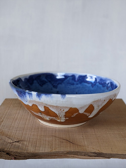 Wheel thrown glazed bowl