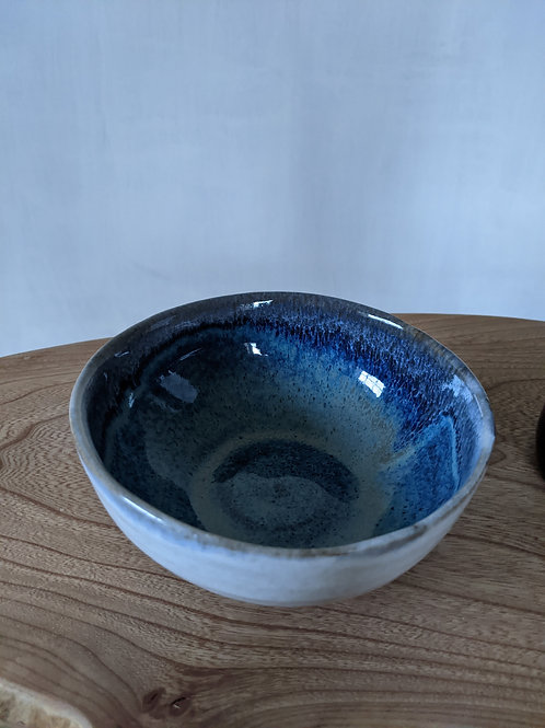 Small glazed stoneware bowl