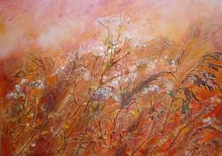 Fiery Autumn Meadow