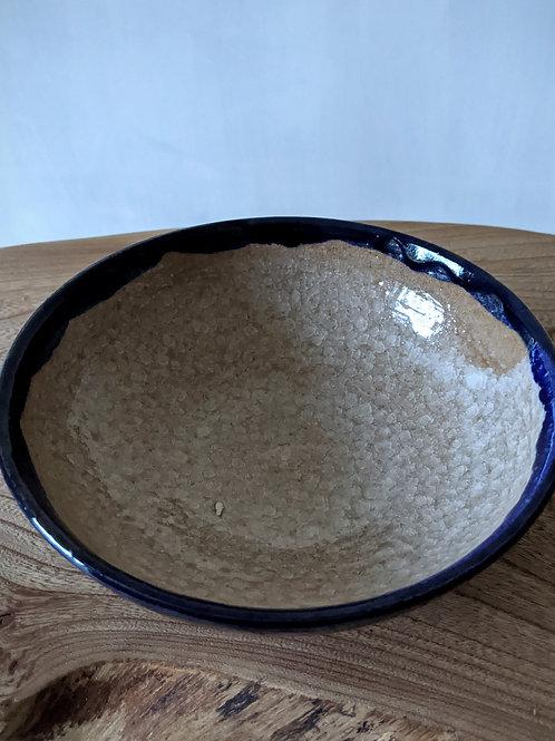 Crackle glaze cereal bowl