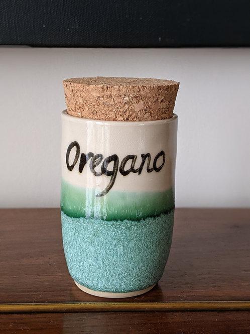 Wheel thrown herb jar