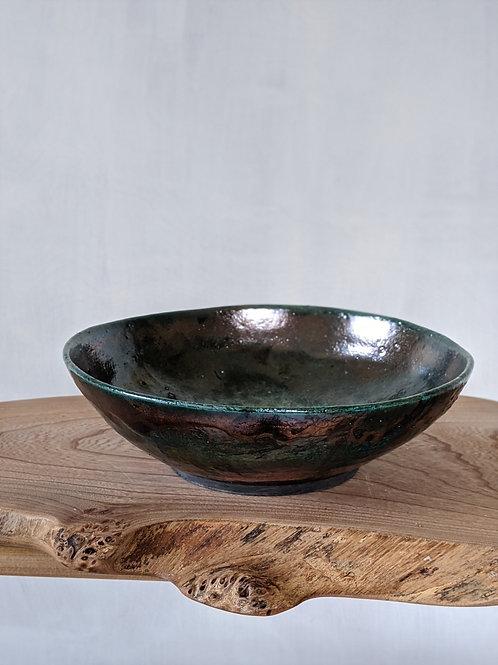 Wheel thrown raku fired bowl