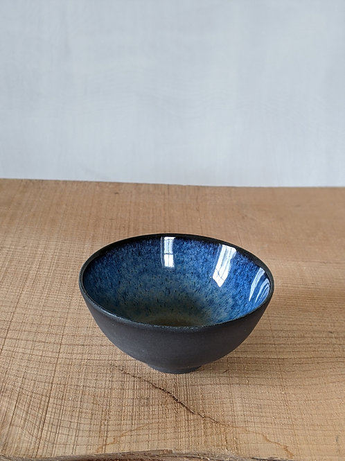 Small black porcelain bowl