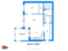 Pohjakuva  62 m²  2h + k + s + p