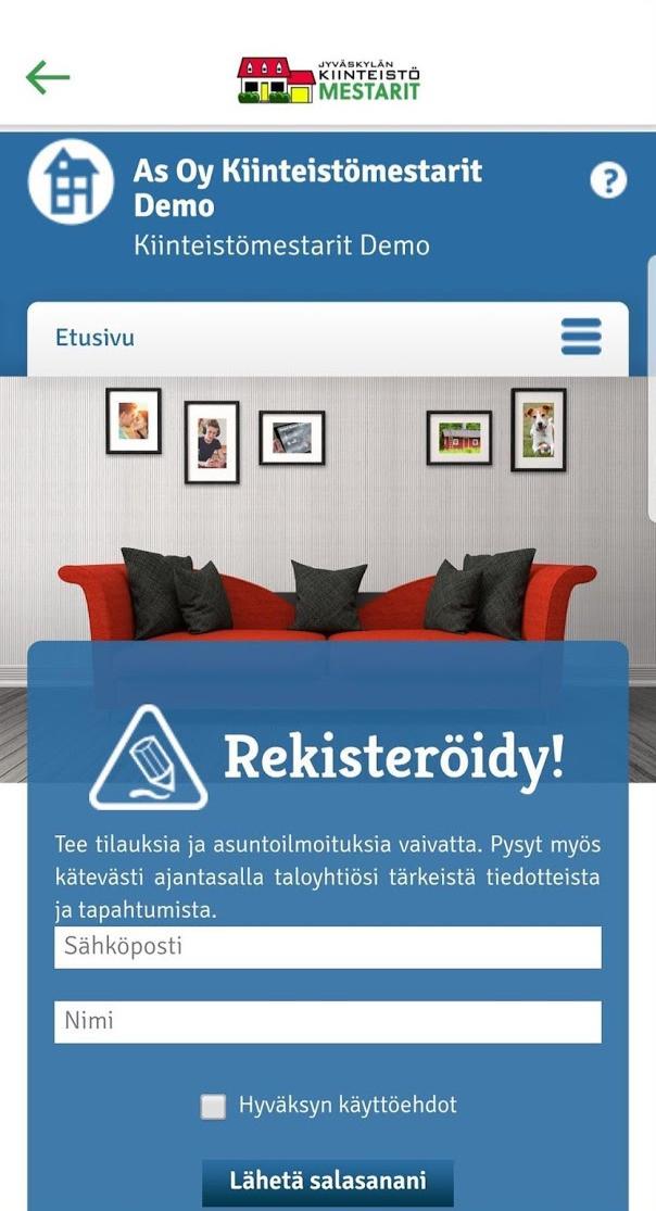 Kiinteistömestarit Taloyhtiö info sovellus