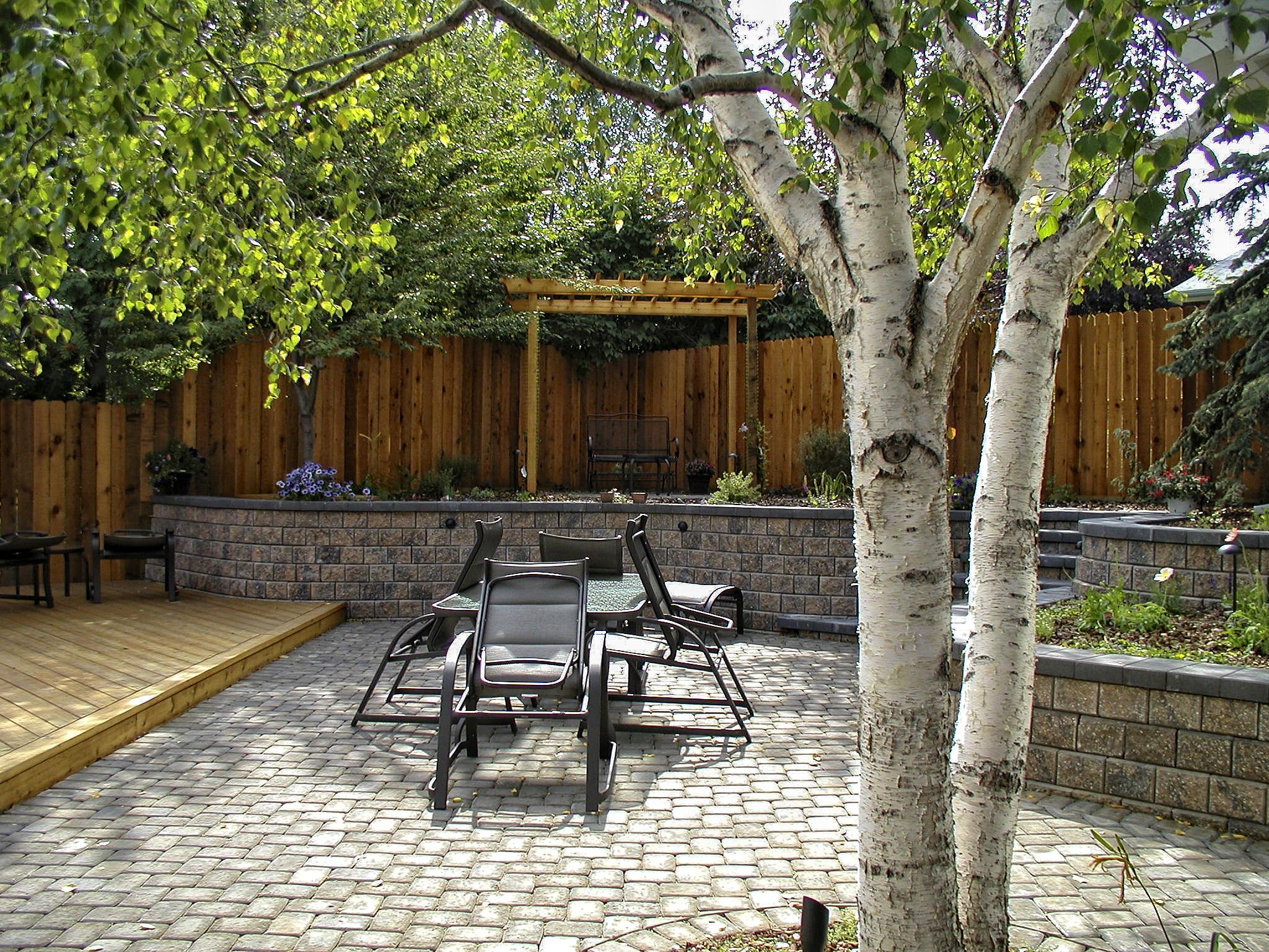 Calgary landscaper rear yard