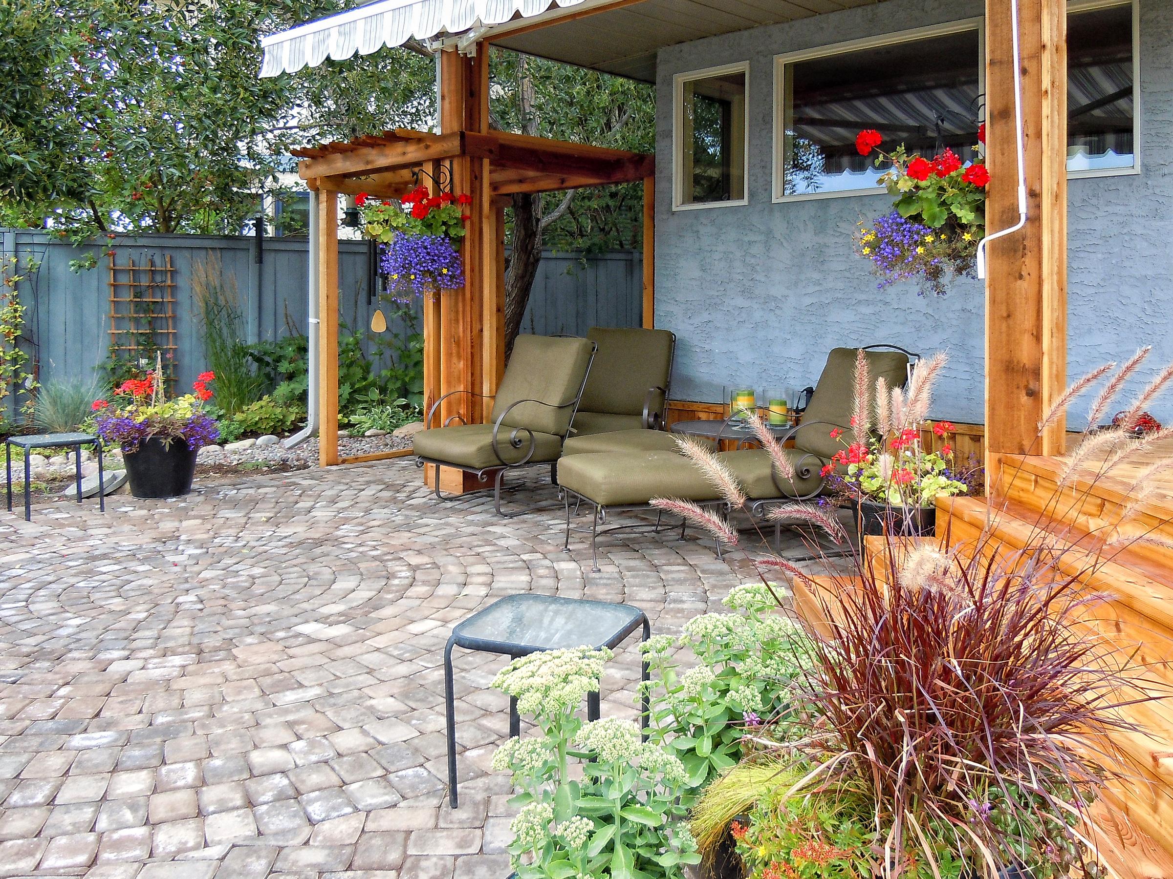 Calgary landscaper yard