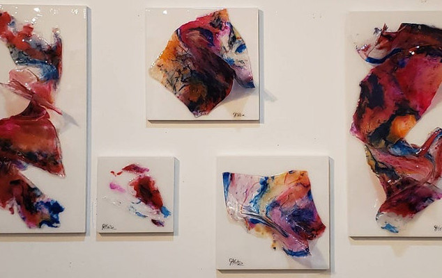 Abstract Wall Sculpture Set of (5)