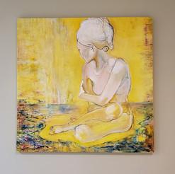 Lady on Pond