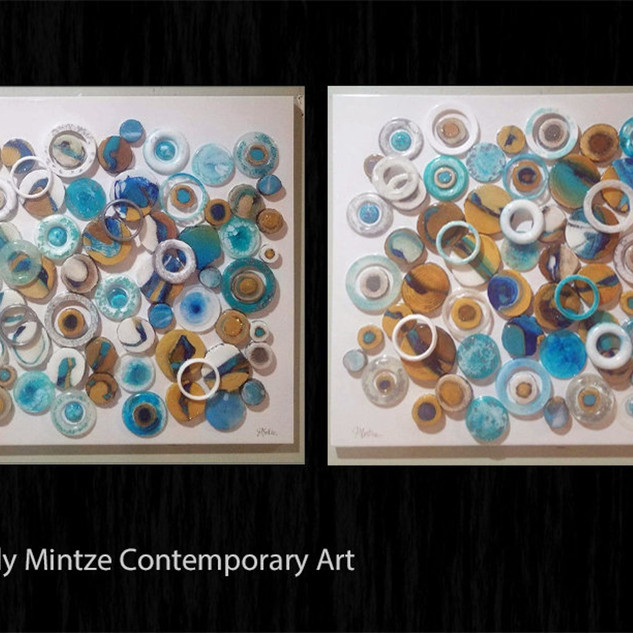 Set of (2) Resin Wall Sculpture(s)