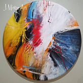 Large Colorful Abstract Round