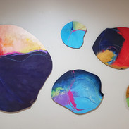 Sold Abstract Rounds Set of (5)
